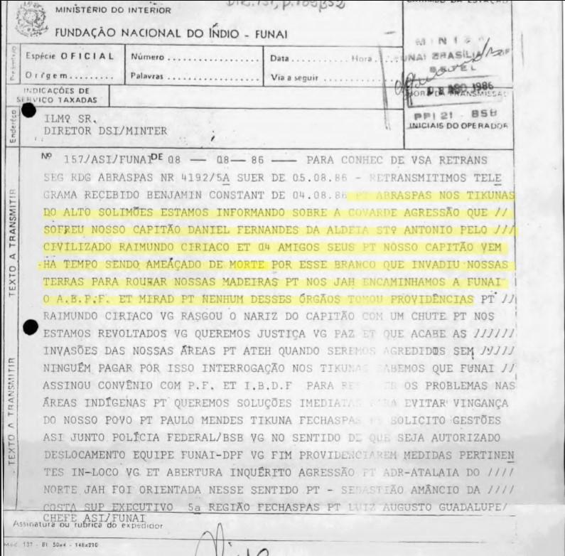 Fundo ASI-FUNAI - Memórias Reveladas-Arquivo Nacional